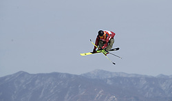 PYEONGCHANG, Feb. 18, 2018  Alex Beaulieu-Marchand of Canada trains before the men's ski slopestyle of freestyle skiing at the 2018 PyeongChang Winter Olympic Games, at Phoenix Snow Park, South Korea, on Feb. 18, 2018. Alex Beaulieu-Marchand won the bronze medal with 92.40 points. (Credit Image: © Fei Maohua/Xinhua via ZUMA Wire)