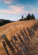 Fenceline on Seaview Ridge near Fort Ross, Sonoma Coast California
