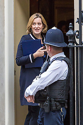 London, October 10 2017. Home Secretary Amber Rudd attends the UK cabinet meeting at Downing Street. © Paul Davey