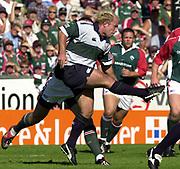 Leicester, 13th September 2003, Zurich Premiership Rugby,  Welford Road, <br /> [Mandatory Credit; Peter Spurrier/Intersport Images]<br /> Zurich Premiership Rugby - Leicester Tigers v London Irish.<br /> Mark Mapletoft