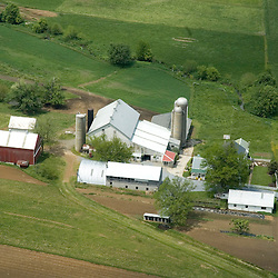 Aerial view of Wisconsin Dairy Farm