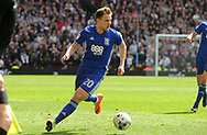 Greg Stewart of Birmingham city in action.  EFL Skybet championship match, Aston Villa v Birmingham city at Villa Park in Birmingham, The Midlands on Sunday 23rd April 2017.<br /> pic by Bradley Collyer, Andrew Orchard sports photography.