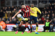 Andrew Surman (6) of AFC Bournemouth battles for possession with Edward Nketiah (30) of Arsenal during the The FA Cup match between Bournemouth and Arsenal at the Vitality Stadium, Bournemouth, England on 27 January 2020.