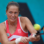 Kateryna Bondarenko of Ukraine in action during the second round of the French Open Tennis Tournament in Paris, France on Thursday, May 28, 2009. Photo Tim Clayton.