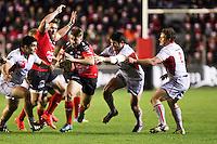 Drew MITCHELL / Deon FOURIE / Fabrice ESTEBANEZ - 20.12.2014 - Toulon / Lyon OU - 13eme journee de Top 14 -<br />Photo : Jean Christophe Magnenet / Icon Sport