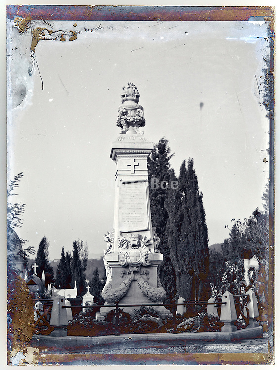 Marseille memorial monument  for Paris cafe bombing by Emile Henry on 12 february 1894
