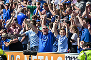 Portsmouth Players fans celebrate during the EFL Sky Bet League 1 match between Portsmouth and Coventry City at Fratton Park, Portsmouth, England on 22 April 2019.