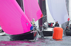 Clyde Cruising Club's Scottish Series 2019<br /> 24th-27th May, Tarbert, Loch Fyne, Scotland<br /> <br /> Day 2 Light breezes and rain<br /> <br /> GBR8272T, Satisfaction, St Mary's Loch SC, J 92, IRL1484, Harmony, Howth Yacht Club, Half Tonner<br /> <br /> <br /> Credit: Marc Turner / CCC