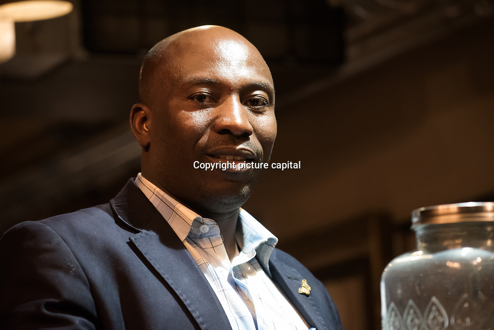 """Dominique Bikaba from Democratic Republic of the Congo """"Ensuring the survival of DRC's eastern lowland gorillas"""" Winner of the Whitley Award donated by Arcus Foundation outstanding efforts to protect some of the world's most endangered animals and their habitat from Pooches, trophy hunting, medicine and food consumption. the goal for Whitley Fund for Nature is to reach the mind of the people and politicians on 26 April 2018 at Library in  London, UK."""