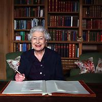 The Queen at Balmoral.Photograph David Cheskin,Press Association