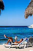 On the beach, Beach Club beach resort, Isla Cozumel, Mexico