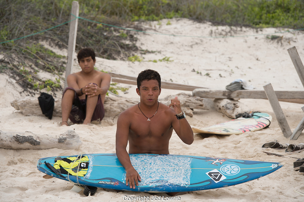 The surf wasn't huge the day we went to Tortuga Bay, but that didn't stop most from having a good day.