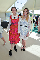 Left to right, LAURA HAYDEN and BARBARA van STIGT at the St.Regis International Polo Cup at Cowdray Park, Midhurst, West Sussex on 16th May 2015.