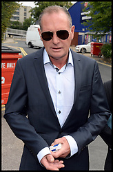 Former England footballer Paul Gascoigne arriving at Stevenage Magistrates Court in Hertfordshire, Monday, 5th August 2013<br /> Picture by Andrew Parsons / i-Images
