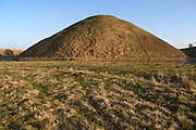 Silbury Hill mound, Wiltshire, England  UK is the largest prehistoric manmade structure in Europe