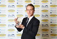 03/05/15 <br /> HILTON - GLASGOW<br /> Celtic's Stefan Johansen collects the PFA Scotland Player of the Year Award 2014.2015.