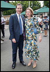July 5, 2018 - London, London, United Kingdom - Image licensed to i-Images Picture Agency. 05/07/2018. London, United Kingdom. George Osborne and his wife Frances  arriving on day four of the Wimbledon Tennis Championships in London. (Credit Image: © Stephen Lock/i-Images via ZUMA Press)