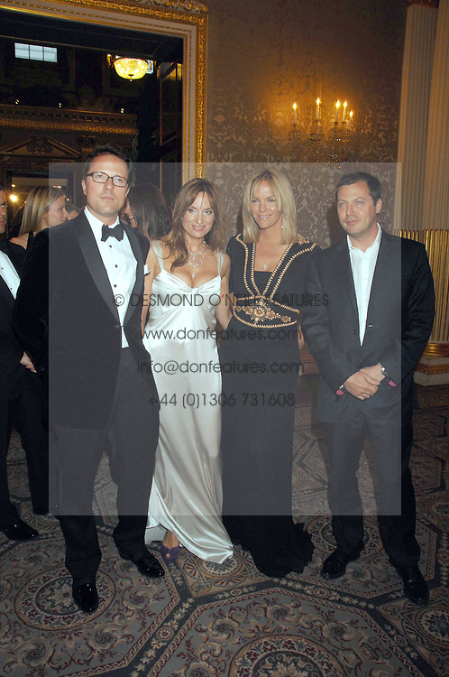 Left to right, WILLIAM TURNER, his wife EMILY OPPENHEIMER-TURNER, ELISABETH MURDOCH and her husband MATTHEW FREUD at the Ark 2007 charity gala at Marlborough House, Pall Mall, London SW1 on 11th May 2007.<br /><br />NON EXCLUSIVE - WORLD RIGHTS