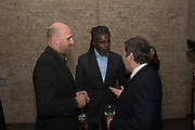 PETER DOIG; HURVIN ANDERSON; GREGOR MUIR, , Peter Doig  was the fourth artist to receive the  annual Art Icon award. Whitechapel Gallery. London.  26 january 2017