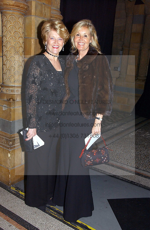 Left to right, ANNIE PARSONS wife of Nicholas parsons and SUSIE BUCHANAN daughter of Nicholas Parsons at a gala dinner in the presence of HM Quenn Silvia of Sweden and HM Queen Noor of Jordan in aid of the charity Mentor held at the Natural History Museum, Cromwell Road, London on 23rd May 2006.<br /><br />NON EXCLUSIVE - WORLD RIGHTS