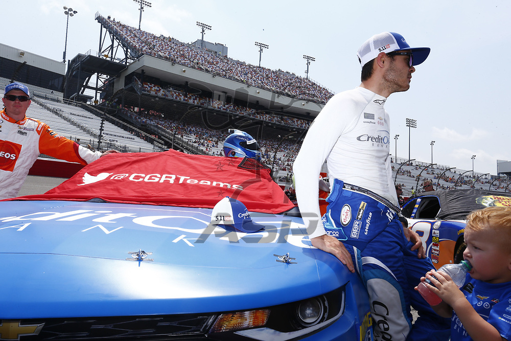April 29, 2017 - Richmond, Virginia, USA: Kyle Larson (42) battles for position during the ToyotaCare 250 at Richmond International Speedway in Richmond, Virginia.