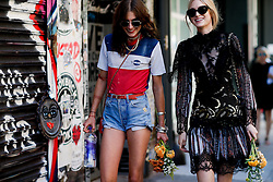 Street style, models Langley Fox and Laura Love after Rodarte Spring Summer 2017 show held at 584 West 22nd Street, in New York City, NY, USA, on September 13, 2016. Photo by Marie-Paola Bertrand-Hillion/ABACAPRESS.COM