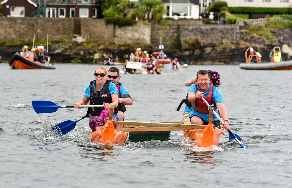 REPRO FREE<br /> Pictured at the RNLI Kinsale Raft Race on the Saturday of the Kinsale Regatta are the Sandwich Board team from The Bulman.<br /> Picture. John Allen
