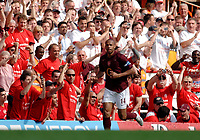 Photo: Daniel Hambury.<br />Arsenal v Wigan Athletic. The Barclays Premiership. 07/05/2006.<br />Arsenal's Thierry Henry celebrates 2-2.