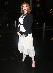 Katie Holmes and Christina Hendricks at the Brooks Brother event in New York. 25 Apr 2018 Pictured: Christina Hendricks. Photo credit: MEGA TheMegaAgency.com +1 888 505 6342