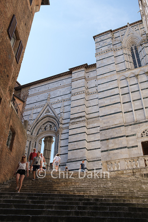 Siena - steps to the Duomo cathedral
