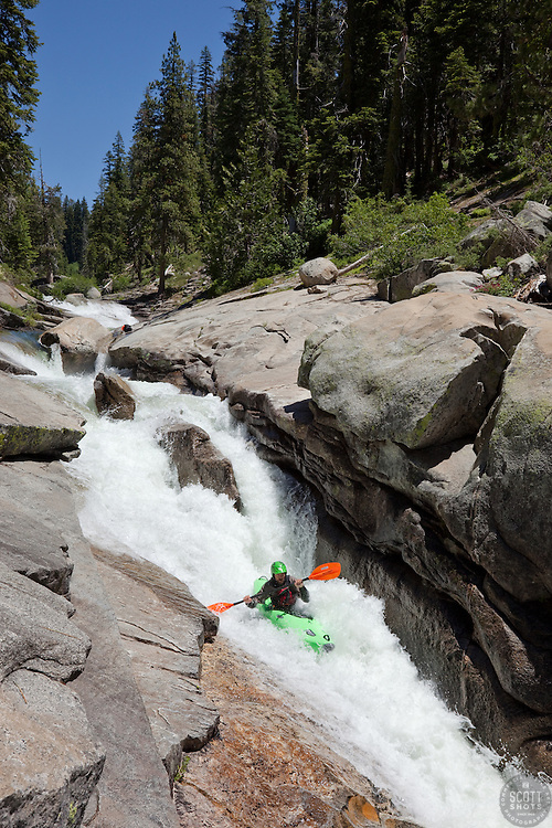 """""""Kayaker on Silver Creek 22"""" - This kayaker was photographed on Silver Creek - South Fork, near Icehouse Reservoir, CA."""