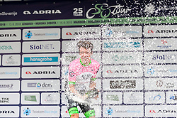 Winner Rigoberto Uran of Team EF Education Cannondale celebrates during trophy ceremony after the 3rd Stage of 25th Tour de Slovenie 2018 cycling race between Slovenske Konjice and Celje (175,7 km), on June 15, 2018 in Slovenia. Photo by Mario Horvat / Sportida