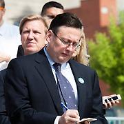 Jackson County (Missouri) Executive Mike Sanders at the Kansas City streetcar groundbreaking ceremony, May 22, 2014.