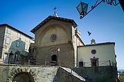 Tuscan Church of San Niccolo, Chiesa San Niccolo, in Piazza Francesco Ferrucci in Radda-in-Chianti, Tuscany, Italy