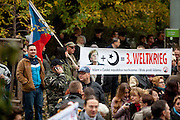 """A few hundred people gathered in Prague to protest the EU's migrant policies and against Islam in general, """"We do not want Islam in Czech Republic"""" is the slogan. The rally was attended by members of Polish and German far right groups such as members of the Pegida movement from Dresden."""