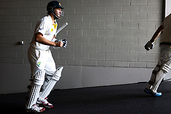 © Licensed to London News Pictures. 29/12/2013. Shane Watson walks up the players race during Day 4 of the Ashes Boxing Day Test Match between Australia Vs England at the MCG on 29 December, 2013 in Melbourne, Australia. Photo credit : Asanka Brendon Ratnayake/LNP