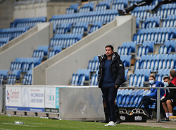 Oldham Athletic manager Harry Kewell watches on - Mandatory by-line: Arron Gent/JMP - 03/10/2020 - FOOTBALL - JobServe Community Stadium - Colchester, England - Colchester United v Oldham Athletic - Sky Bet League Two