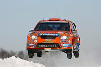 Motor<br /> WRC 2009<br /> Rally Norge<br /> Foto: DPPI/Digitalsport<br /> NORWAY ONLY<br /> <br /> MOTORSPORT - WRC 2009 - RALLY NORWAY - HAMAR - 12/02 TO 15/02/2009<br /> <br /> HENNING SOLBERG (NOR) - CATO MENKERUD / FORD FOCUS RS WRC 07 STOBART M-SPORT