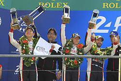 June 17, 2018 - Le Mans, France - 7 TOYOTA GAZOO RACING (JPN) TOYOTA TS050 HYBRID LMP1 MIKE CONWAY (GBR) JOSE MARIA LOPEZ (ARG) KAMUI KOBAYASHI (JPN) SECOND LMP1 (Credit Image: © Panoramic via ZUMA Press)
