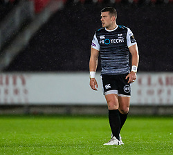 Scott Williams of Ospreys<br /> <br /> Photographer Simon King/Replay Images<br /> <br /> Guinness PRO14 Round 6 - Ospreys v Connacht - Saturday 2nd November 2019 - Liberty Stadium - Swansea<br /> <br /> World Copyright © Replay Images . All rights reserved. info@replayimages.co.uk - http://replayimages.co.uk