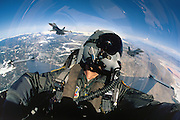 F-16 Pilot with F-16s in background
