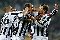 L'esultanza dei giocatori della Juventus per il gol del 2-0 di Jonathan Zebina.<br /> Juventus players celebrate Jonathan Zebina 's 2-0 leading goal. <br /> Torino 11/03/2010 Stadio Olimpico<br /> Juventus Fulham FC - UEFA Europa League 2009-10.<br /> Foto Giorgio Perottino / Insidefoto