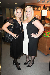 Left to right, ALLEGRA FELTZ and VANESSA FELTZ at the opening reception of the new Jewish Museum, Raymond Burton House, 129-131 Albert Street, London NW1 on 16th March 2010.