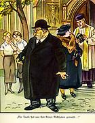 Nazi anti Semitic propaganda illustration from a children's book circa 1936