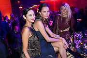 HANNAH BHUIYA; SASHA VOLKOVA; MEREDITH OSTROM, Dinner and party  to celebrate the launch of the new Cavalli Store at the Battersea Power station. London. 17 September 2011. <br /> <br />  , -DO NOT ARCHIVE-© Copyright Photograph by Dafydd Jones. 248 Clapham Rd. London SW9 0PZ. Tel 0207 820 0771. www.dafjones.com.
