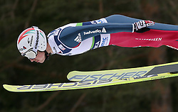 Simon Ammann (SUI) at Qualification's 1st day of 32nd World Cup Competition of FIS World Cup Ski Jumping Final in Planica, Slovenia, on March 19, 2009. (Photo by Vid Ponikvar / Sportida)