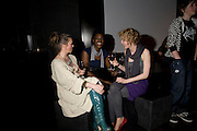 MARIA NAYLOR, SABRINA GRANT AND KATE MALYON, INTO THE HOODS - a hip hop dance musical -opening  at the Novello Theatre on The Aldwych. After- party at TAMARAI at 167 Drury Lane, London. 27 March 2008.   *** Local Caption *** -DO NOT ARCHIVE-© Copyright Photograph by Dafydd Jones. 248 Clapham Rd. London SW9 0PZ. Tel 0207 820 0771. www.dafjones.com.