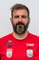 Download von www.picturedesk.com am 16.08.2019 (13:58). <br /> PASCHING, AUSTRIA - JULY 16: Assistant coach Andreas Wieland of LASK during the team photo shooting - LASK at TGW Arena on July 16, 2019 in Pasching, Austria.190716_SEPA_19_070 - 20190716_PD12426