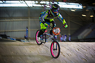 #33 (GEORGE Dani) USA at the 2014 UCI BMX Supercross World Cup in Manchester.