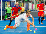 The Netherlands Jeroen Hertzberger. Russia v The Netherlands - Unibet EuroHockey Championships, Lee Valley Hockey & Tennis Centre, London, UK on 25 August 2015. Photo: Simon Parker
